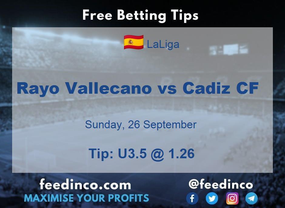 Rayo Vallecano vs Cadiz CF Prediction