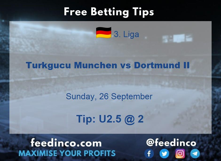 Turkgucu Munchen vs Dortmund II Prediction