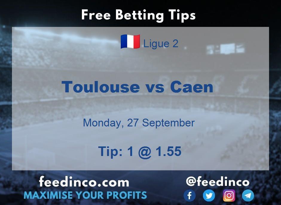 Toulouse vs Caen Prediction