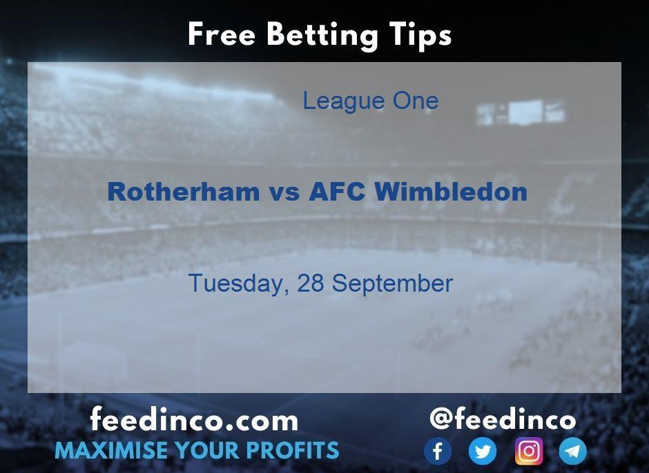 Rotherham vs AFC Wimbledon Prediction