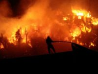 اندلاع حريق بخط أنابيب نقل بترول السويس ـ القطامية