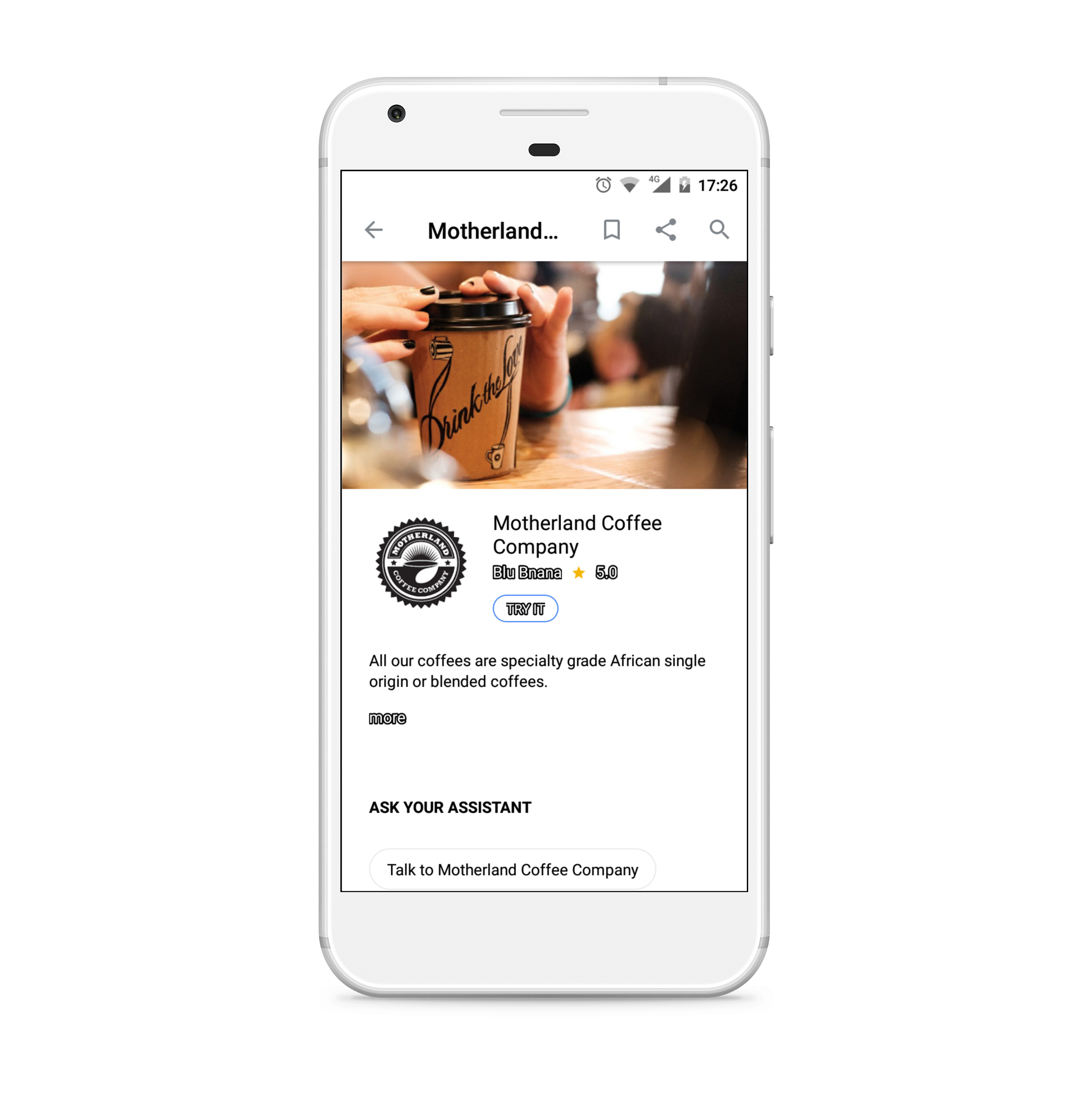 Motherland Coffee Co Smart Assistant