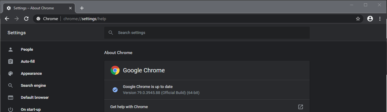 Chrome Version 79