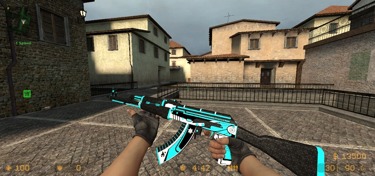 AK-47 Weapon Skin For Countre-Strike Source