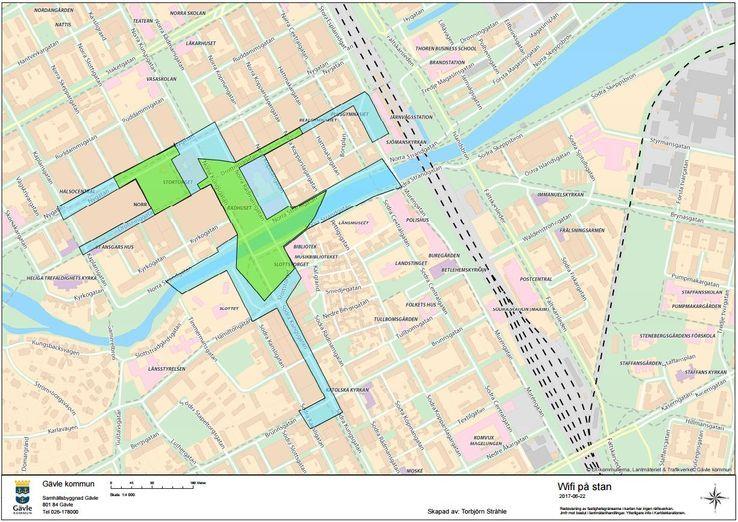 Gävle kommun monterar gratis WiFi i stadskärnan