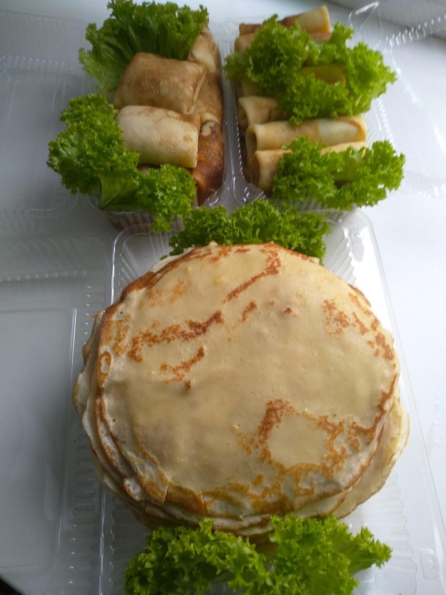 Блины с мясом,творогом,маком, яблоками: (180)  - 2