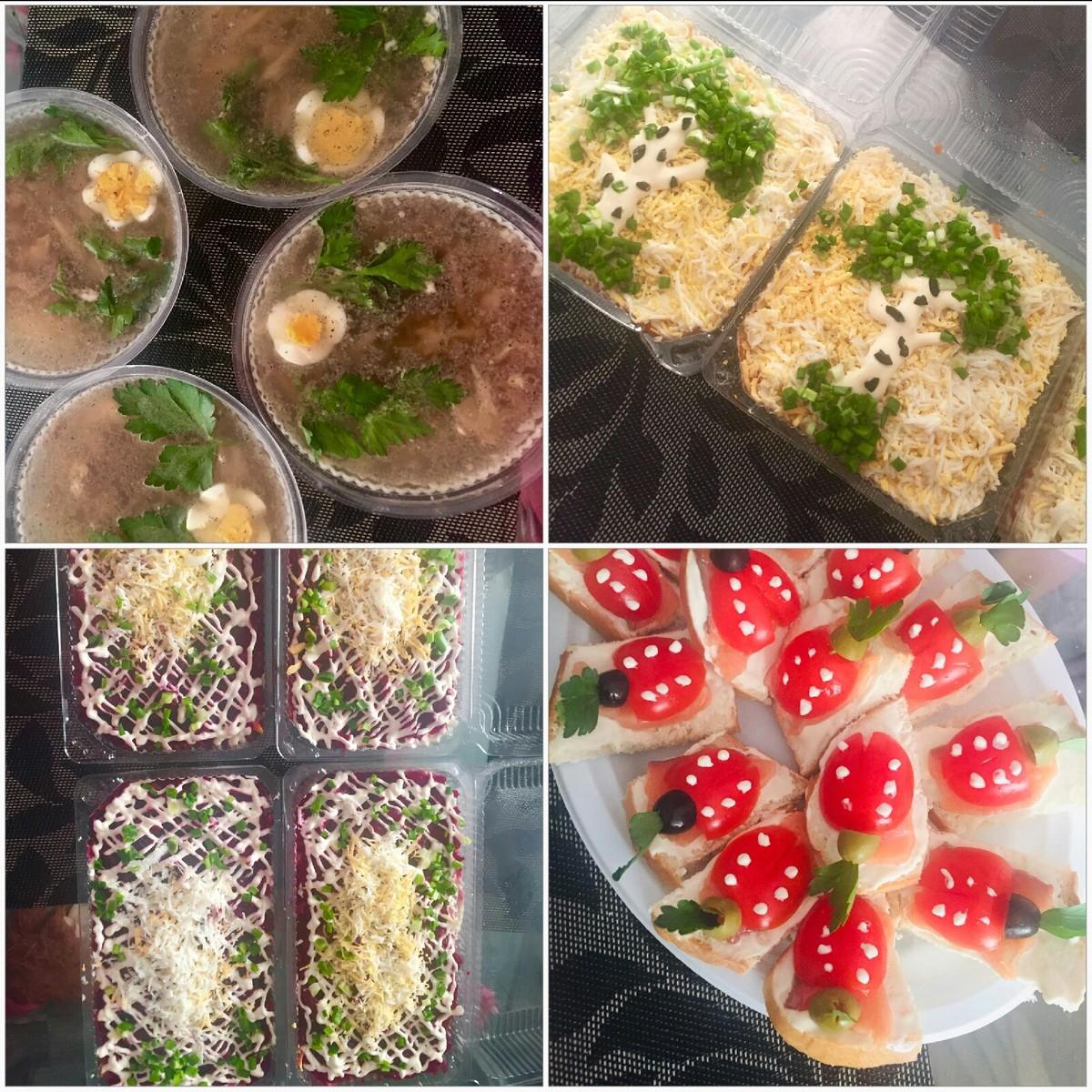 Приготовлю для Вас любимый салатик, холодец, канапе или карзинки : (100)  - 6
