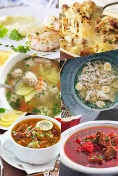 Первые блюда и вторые   Борщ , солянка , бульон а также плов , пюре картошка , картошка по французски ..... и т.д.: (150)