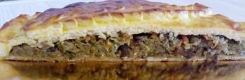 Пирог с капустой и грибами: (180)