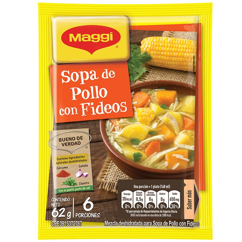 MAGGI SOPA POLLO FIDEO S 65 GR