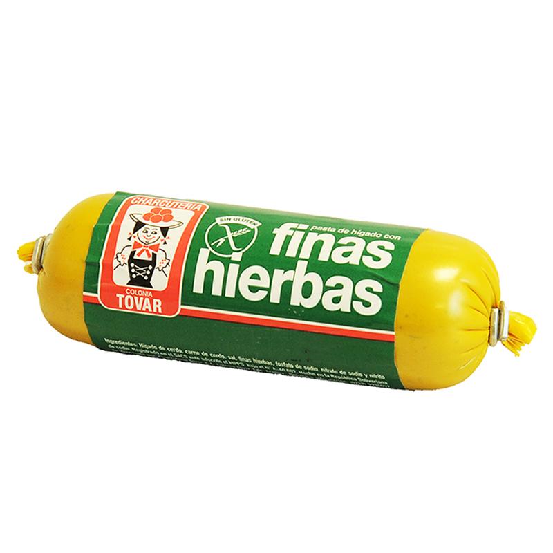 PASTA DE HIGADO FINA HIERBAS COLONIA TOVAR 125 GR