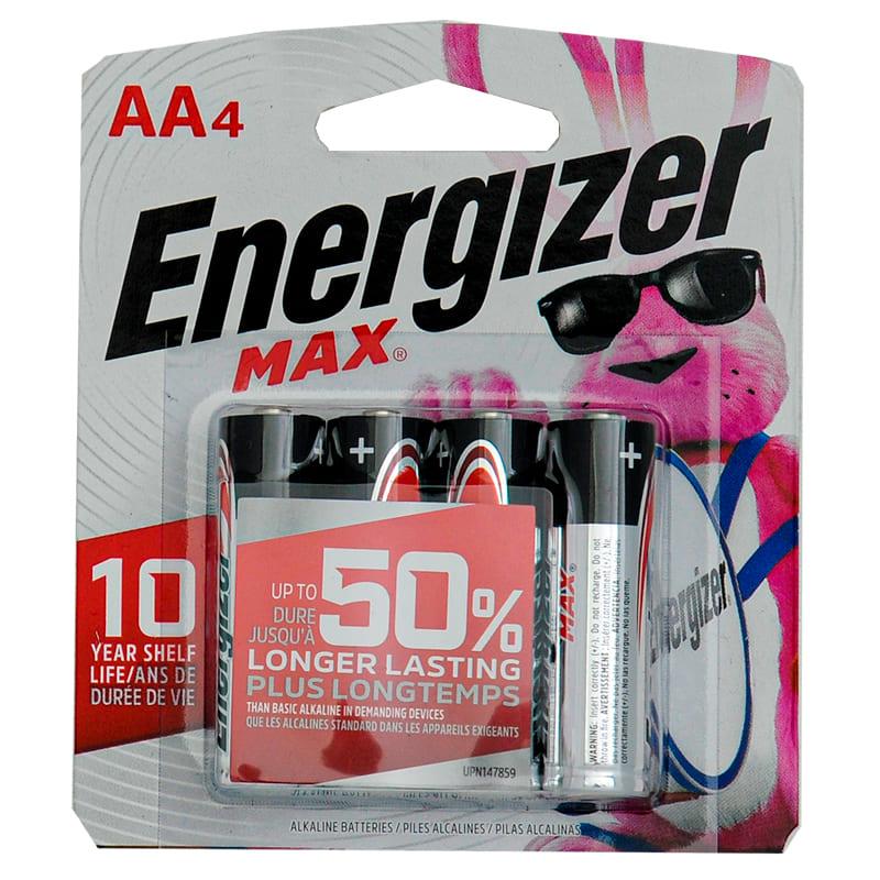 ENERGIZER MAX AA 4 Unidades