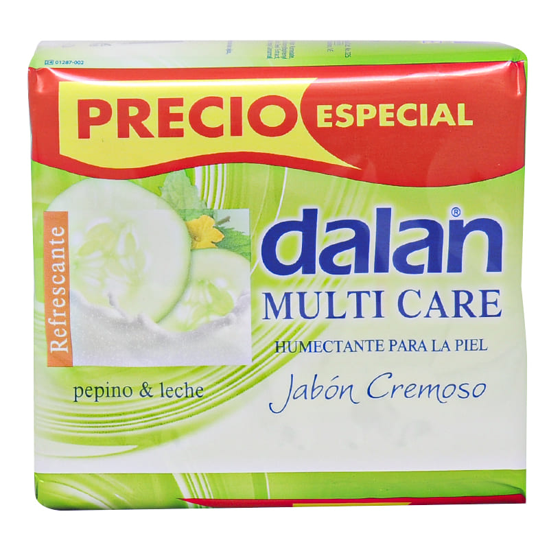 JABÓN DALAN PEPINO Y  LECHE 3X125GR