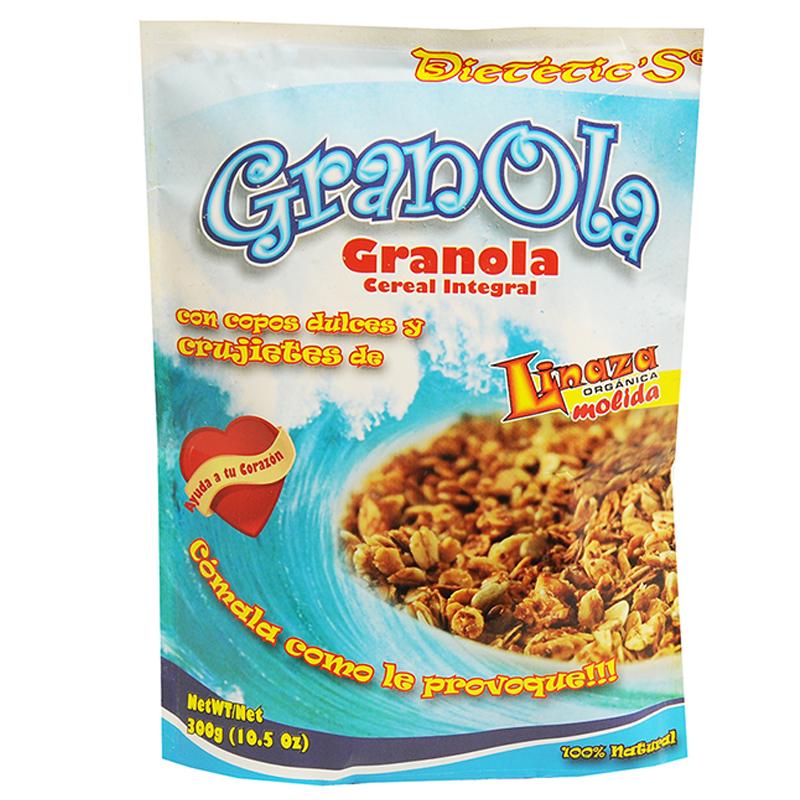 GRANOLA DIETETIC'S CON COPOS DULCES DE LINAZA 300 GR