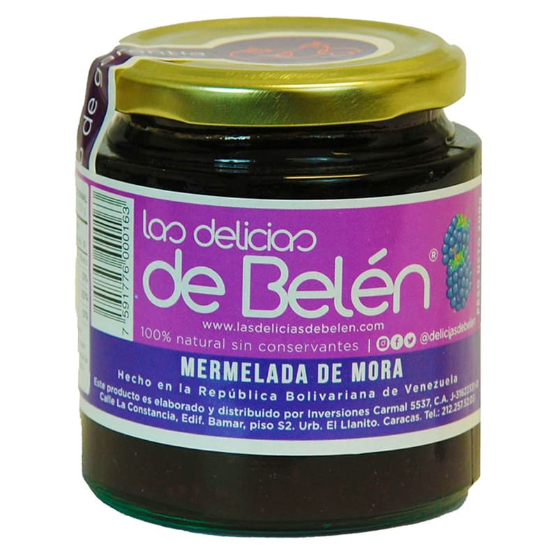MERMELADA DE MORA LAS DELICIAS DE BELEN 200 GR