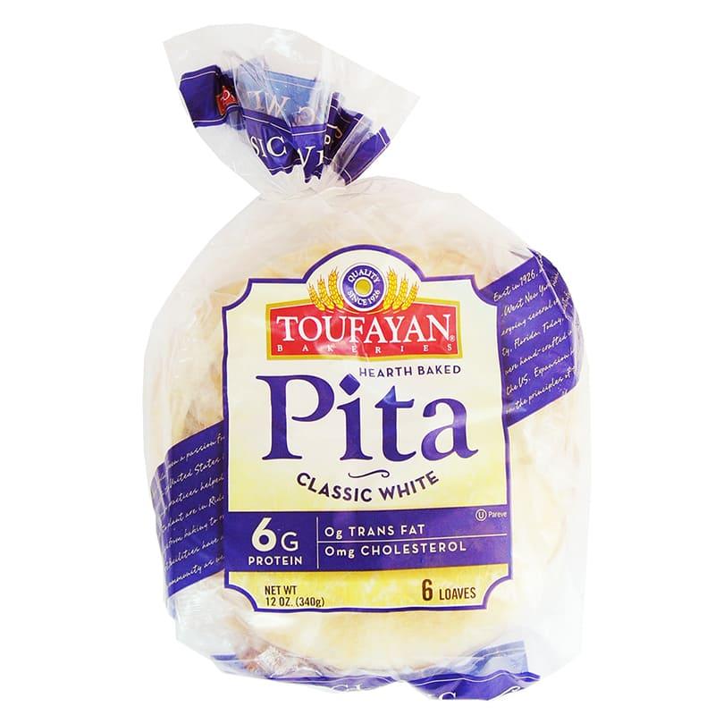 PAN DE PITA CLASSIC WHITE 6 UNIDADES TOUFAYAN 340GR