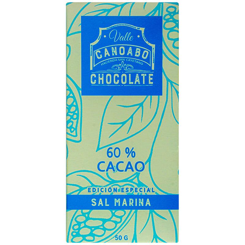 CHOCOLATE VALLE CANOABO SAL MARINA 50 GR.