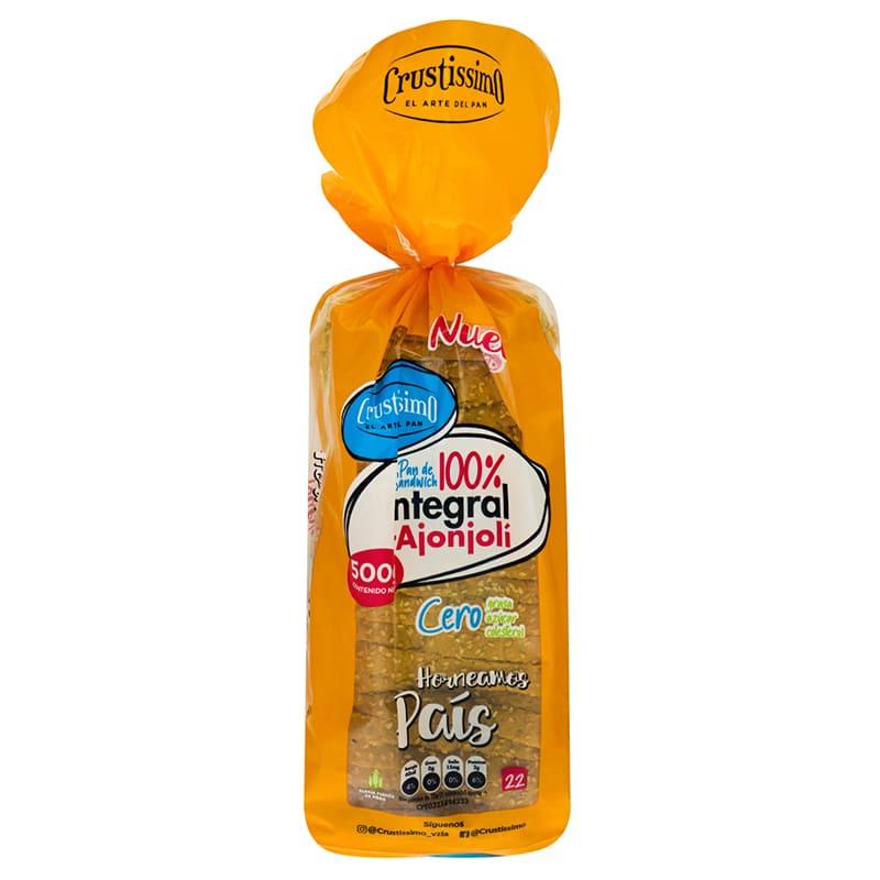 Pan de Sandwich Integral Crustissimo Con Ajonjoli 500gr