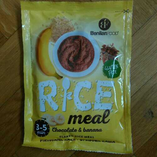 Rice Meal chocolate and banana
