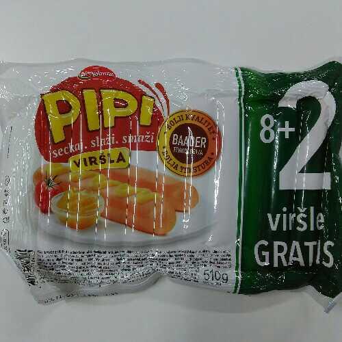 Pipi virsla 8+2