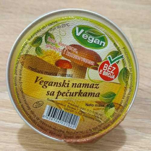 Vegan - Veganski namaz sa pečurkama