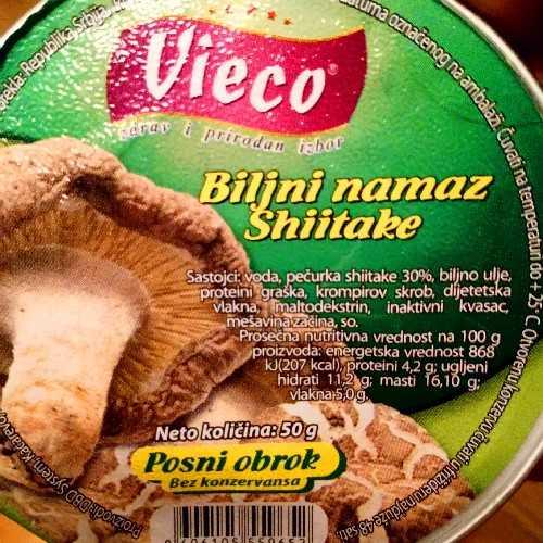 Biljni namaz Shiitake