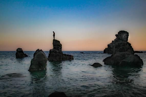 david en Hamelin: Paisaje  (Lloret de Mar), #apfb últimos rayos de sol en cala del Frares/lloret de mar/Cataluña. Listo para el último salto.