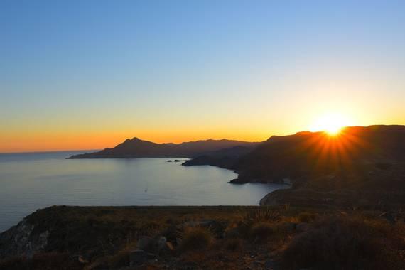 Juanegea4 en Hamelin: Paisaje  (Cabo de Gata), Así son los atardeceres en los lugares dónde el ser humano no llega...  #cabodegata #andalucianice20