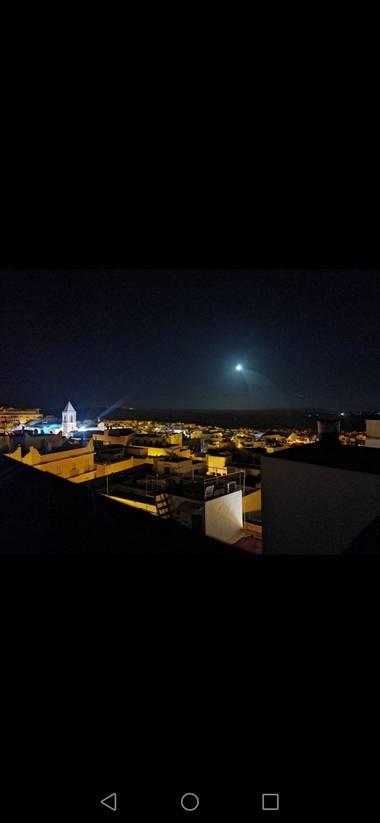 Candilago18 en Hamelin: Paisaje  (Conil de la Frontera), #luna #conil #conildelafrontera #noche