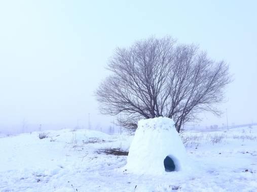 Rafaelcastillo59 en Hamelin: Paisaje  (Albacete), Iglú tras la nevada #invierno20