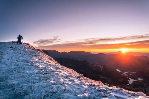 Kiku Solé en Hamelin: Paisaje  (Guixers), La salida de sol des de 'El cap d'Urdiets'. #invierno20