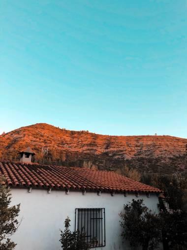 Sandramg.92 en Hamelin: Paisaje  (Valencia), Más agustico no se puede estar. #Octubre #Montaña #Mountain #Cielo #Sky #Azul #Blue #Xativa