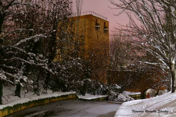 florenrevuelta en Hamelin: Paisaje  (Guadalajara), #invierno20 Torreón fortaleza y puente de las infantas