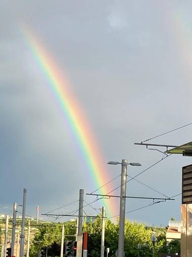Safari.faby en Hamelin: Paisaje, #arcoiris #hamelin #foto #fotomovil #movil #paisaje