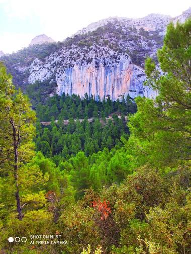 Rojo_RcT en Hamelin: Paisaje  (Murcia), Fotografía del paraje de piedra lisa en la Sierra de Ricote