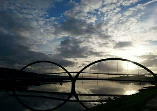 ericamacho1415 en Hamelin: Paisaje  (Neda), Bonito anochecer en el #rioxubia