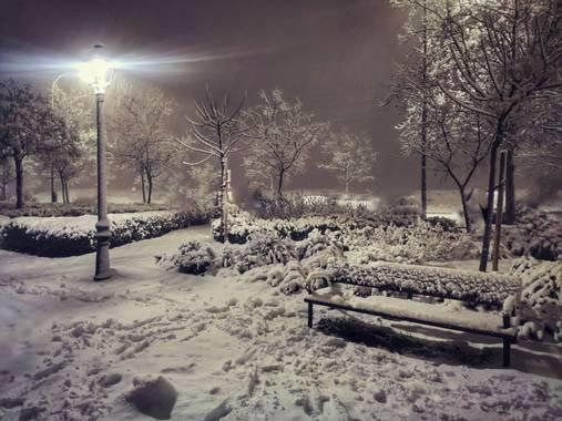 María G Terrones en Hamelin: Paisaje  (Móstoles), Nieva en el sur de Madrid #Invierno20