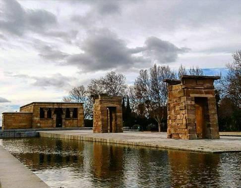 Bea San en Hamelin: Paisaje  (Madrid), Parque del Oeste Templo de Debod #parquesyjardines #parquedeloeste #templodedebod #templo #paisaje #madrid