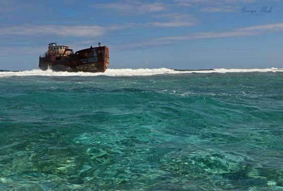 vanesaabadr en Hamelin: Paisaje  (Región Autónoma Atlántico Norte), Un paisaje marino de la Isla de San Andrés. Foto tomada en la barrera de coral (la terc...