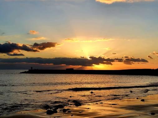 Melchique en Hamelin: Paisaje  (Adeje), La puesta de sol en el Costa Fañabe,  Tenerife  #canarias #tenerife #landscapephotography #paisaje @melchique
