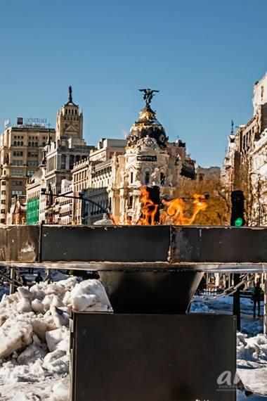 Martinezantonio.correo en Hamelin: Paisaje  (Madrid), #invierno2020 #nevadaenmadrid #llamapermanente#callealcala