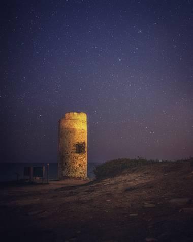 luismarya en Hamelin: Paisaje  (Chiclana de la Frontera), #nocturnas #chiclana #torredelpuerco #cielo