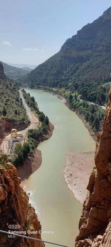 Apasnau75 en Hamelin: Paisaje  (Ardales), Vista desde el puente colgante del Caminito del Rey, Ardales, Málaga.