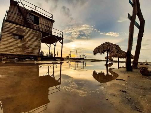 mauricioacmal en Hamelin: Paisaje, Atardecer al Mar Caribe. Sol, playa, brisa y mar.  #atardecer #mar #sol #paisaje