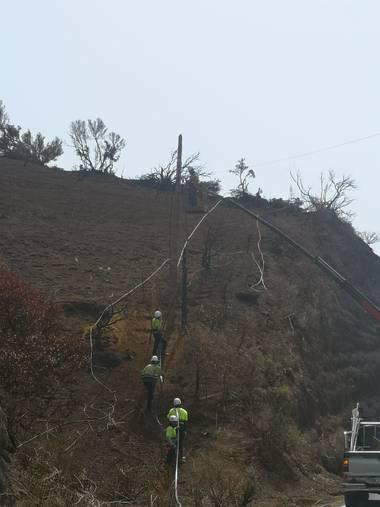 javicabl32 en Hamelin: Paisaje  (Garafía), Incendio  y recolocacion de las telecomunicaciones TELEFONICA