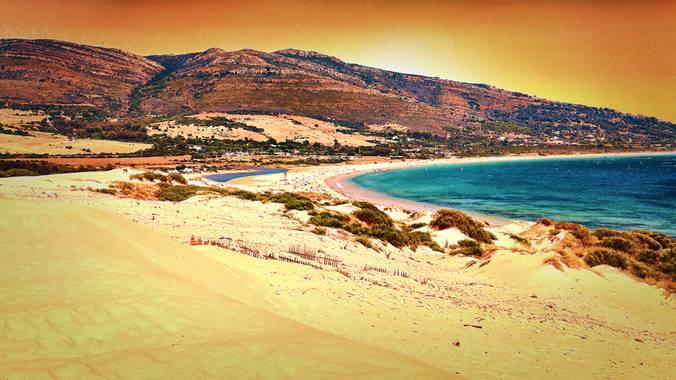 Sandragilvaldivia en Hamelin: Paisaje  (Tarifa), Increíble el paisaje, sus dunas y su cielo.  #paisajeplaya #playavaldevaqueros #naturalezaandalucia2020 #a...