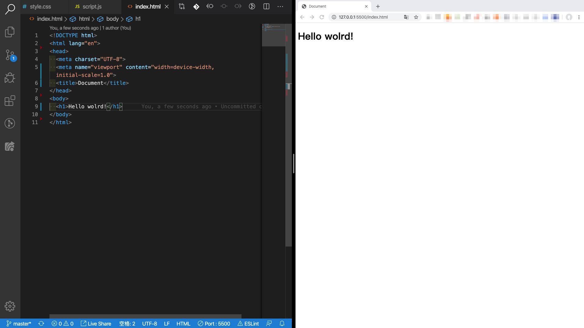 只要有瀏覽器與編輯器就可以了!