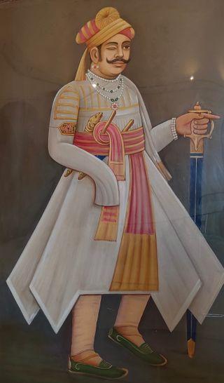 Portrait of Maharana Sanga, Fateh Prakash Palace Museum, Chittorgarh