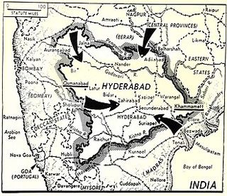 Hyderabad Map before Operation Polo