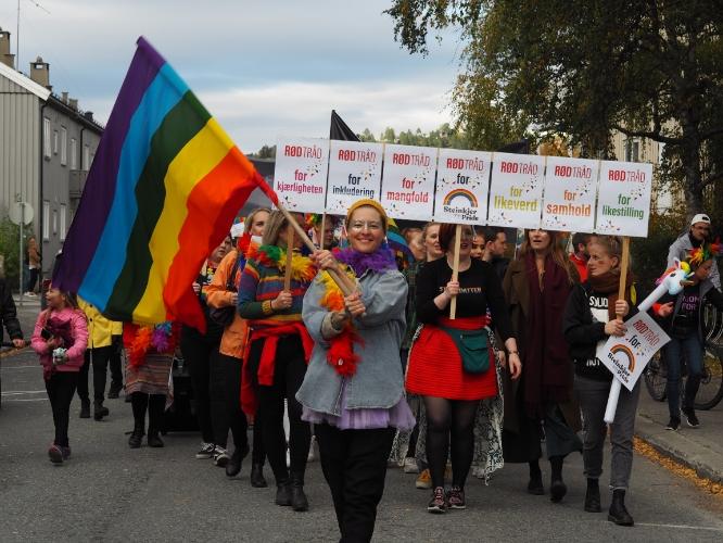 Vi farger gatene på Steinkjer for likeverd og mangfold!